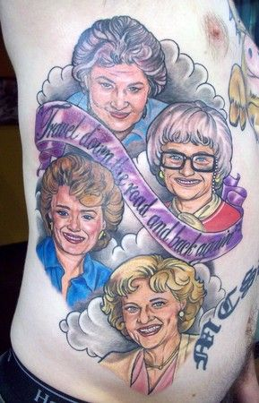Aside from the fact that Estelle Getty is favoring Thelma from Scooby Doo, I am kind of jealous that I don't have this tattoo. -via Capcy.com