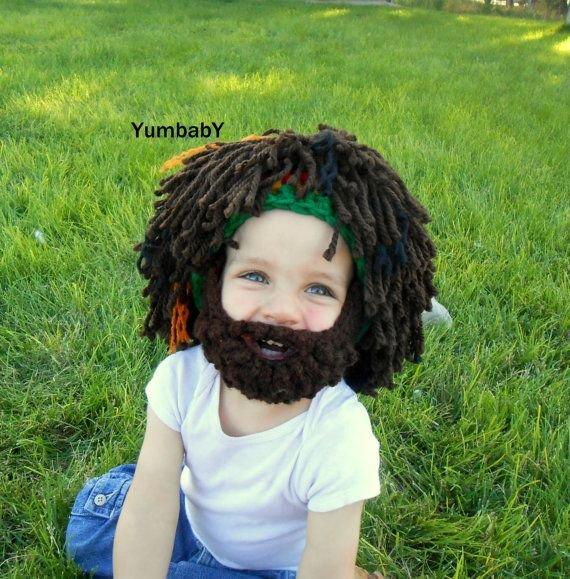 Rasta baby beard beenie
