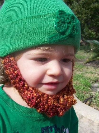 irish baby beard beanie