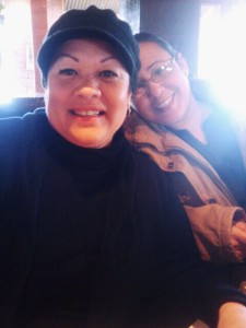 Kiara's biological mother with her wife.