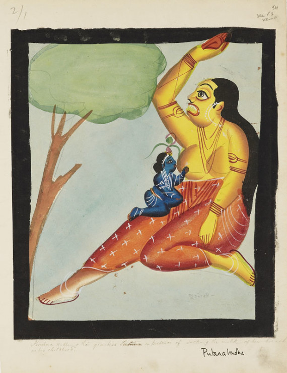 Bala Krishna and the demonness Putana