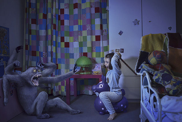 children battle their bedroom monsters